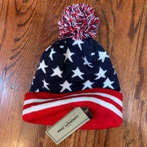 NWT Free Authority USA flag hat